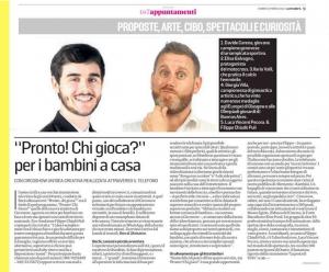 """Eventi Live Streaming: """"Pronto! Chi gioca?"""" la prima iniziativa in Italia di gioco on-line per famiglie"""