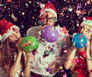 festa con palloncini